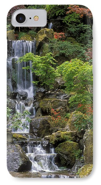 Japanese Garden Waterfall IPhone Case