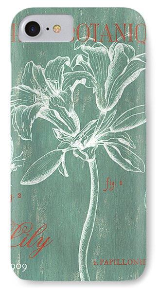 Lily iPhone 8 Case - Jardin Botanique Aqua by Debbie DeWitt