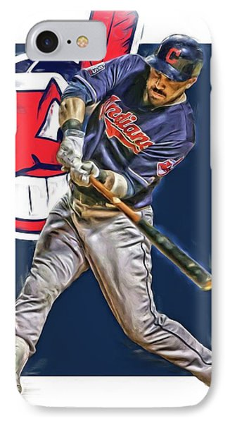 Jason Kipnis Cleveland Indians Oil Art IPhone Case