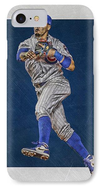 Javier Baez Chicago Cubs Art IPhone Case