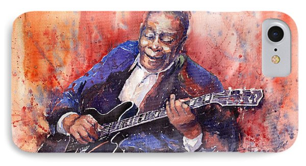 Music iPhone 8 Case - Jazz B B King 06 A by Yuriy Shevchuk
