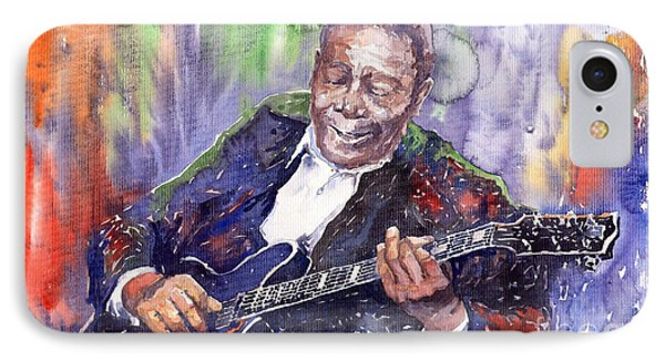 Music iPhone 8 Case - Jazz B B King 06 by Yuriy Shevchuk