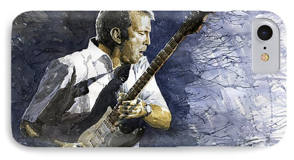 Musicians iPhone 8 Case - Jazz Eric Clapton 1 by Yuriy Shevchuk