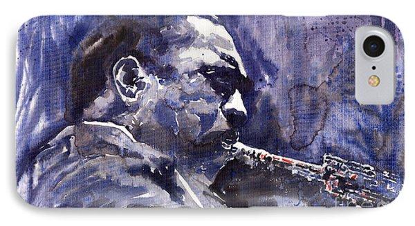 Saxophone iPhone 8 Case - Jazz Saxophonist John Coltrane 01 by Yuriy Shevchuk