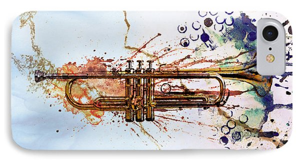 Music iPhone 8 Case - Jazz Trumpet by David Ridley