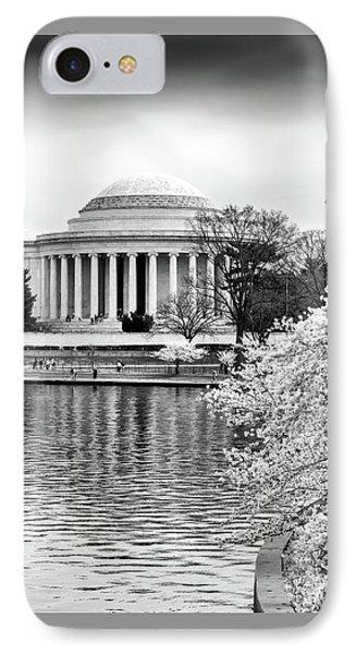 Jefferson Memorial Cherry Blosum Time IPhone Case