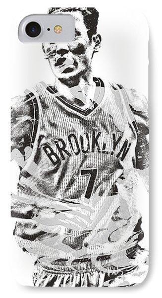 Jeremy Lin Brooklyn Nets Pixel Art 1 IPhone Case