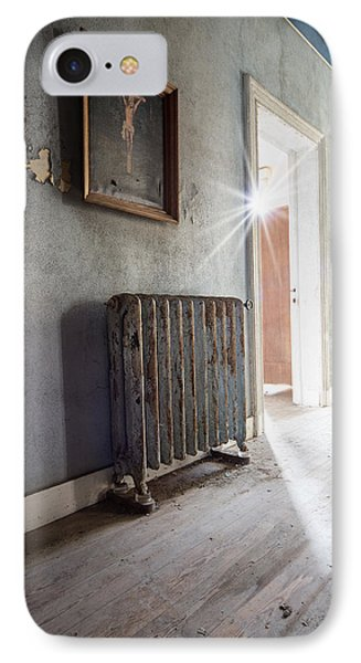 Jesus Above The Heater - Abandoned Building IPhone Case