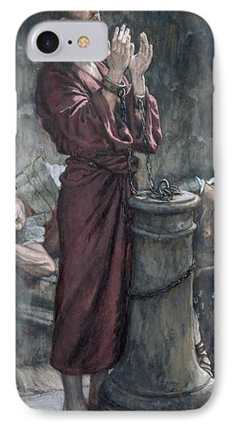 Dungeon iPhone 8 Case - Jesus In Prison by Tissot