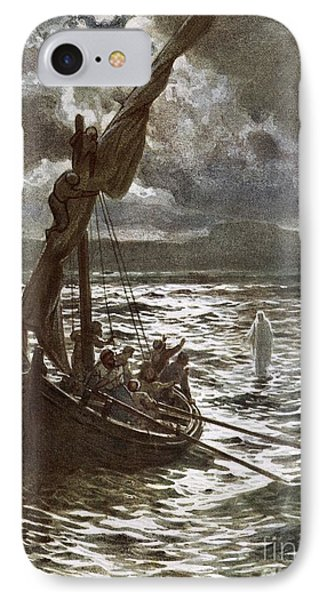 Jesus Walking Upon The Sea IPhone Case