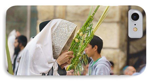 Jewish Sunrise Prayers At The Western Wall, Israel 6 IPhone Case
