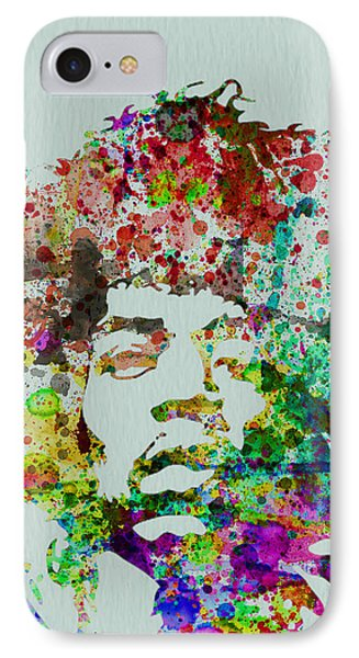 Rock And Roll iPhone 8 Case - Jimmy Hendrix Watercolor by Naxart Studio