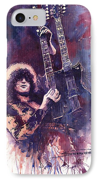 Musicians iPhone 8 Case - Jimmy Page  by Yuriy Shevchuk