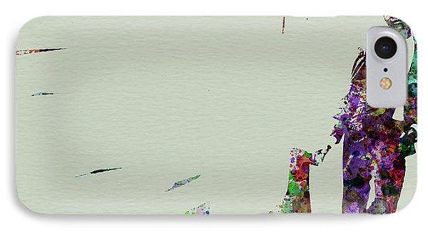 Saxophone iPhone 8 Case - Joe Henderson Watercolor 2 by Naxart Studio