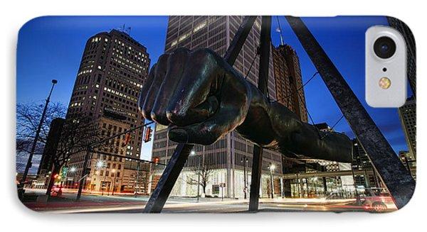 Joe Louis Fist Statue Jefferson And Woodward Ave. Detroit Michigan IPhone Case