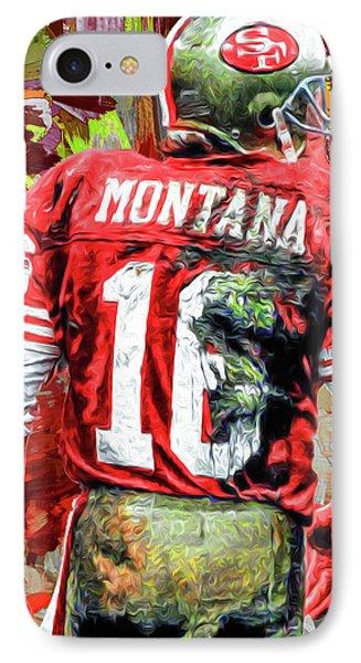 Joe Montana Football Digital Fantasy Painting San Francisco 49ers IPhone Case