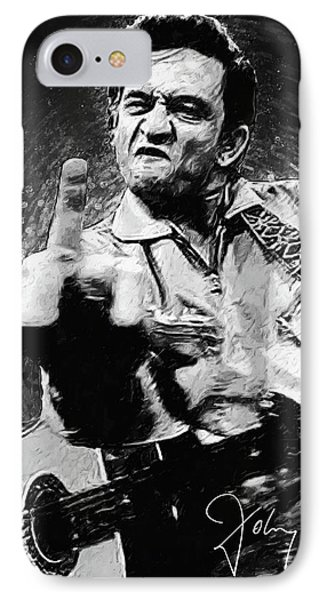 Rock And Roll iPhone 8 Case - Johnny Cash by Zapista