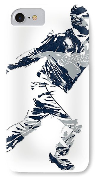 Jose Ramirez Cleveland Indians Pixel Art 2 IPhone Case