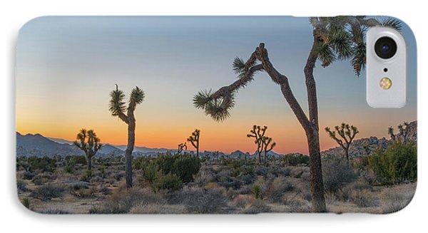 Desert iPhone 8 Case - Joshua Sunset by Joseph Smith