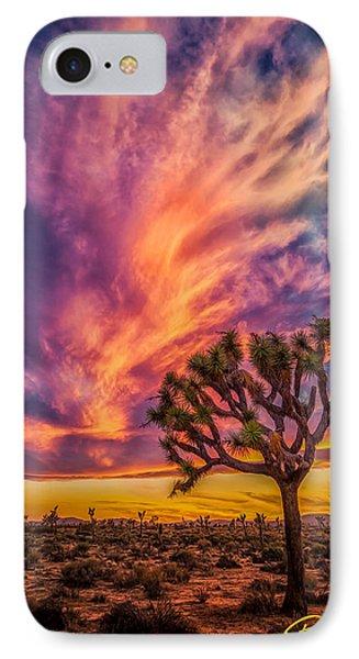 Joshua Tree In The Glowing Swirls IPhone Case