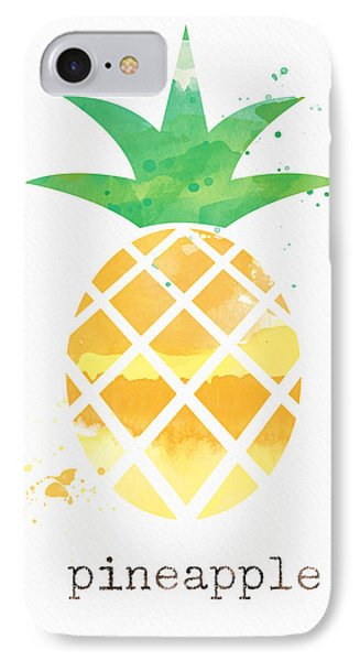 Fruit iPhone 8 Case - Juicy Pineapple by Linda Woods