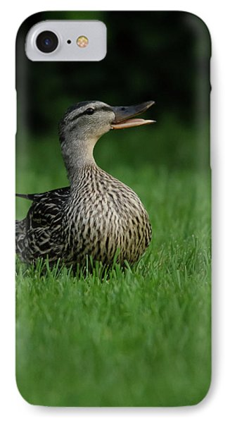 Just A Happy Duck IPhone Case