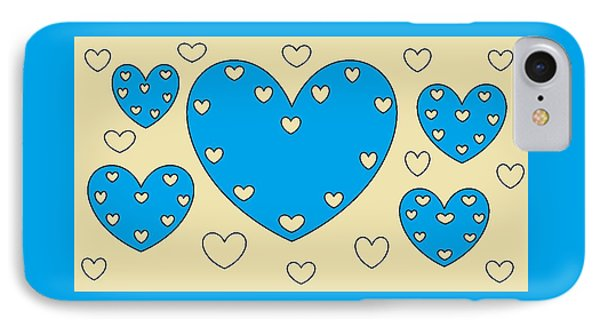 Just Hearts 4 IPhone Case