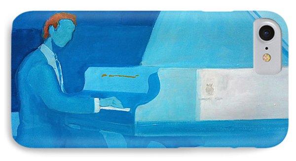 Justin Levitt Steinway Piano Blue IPhone Case