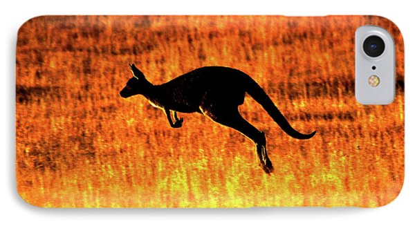 Kangaroo Sunset IPhone Case
