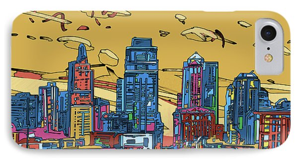 Kansas City Skyline Panorama 3 IPhone Case
