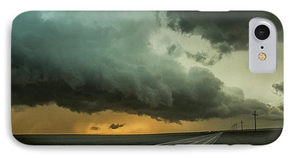 Nebraskasc iPhone 8 Case - Kansas Storm Chase Bust Day 004 by NebraskaSC