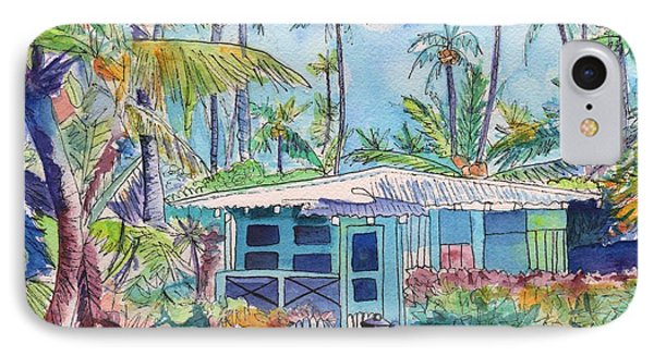 Kauai Blue Cottage 2 IPhone Case