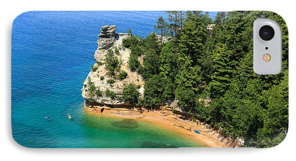 Kayaking At Miners Castle IPhone Case