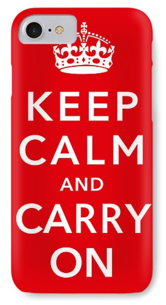 England iPhone 8 Case - Keep Calm And Carry On by War Is Hell Store