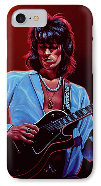 Musicians iPhone 8 Case - Keith Richards The Riffmaster by Paul Meijering