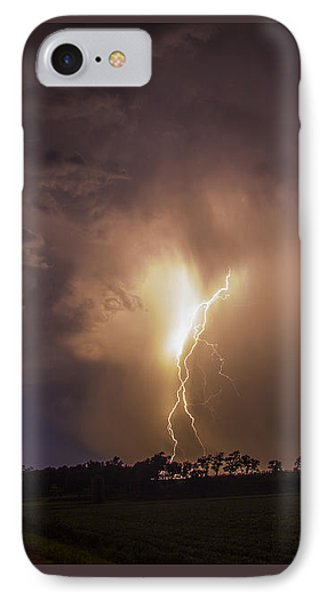 Nebraskasc iPhone 8 Case - Kewl Nebraska Cg Lightning And Krawlers 014 by NebraskaSC
