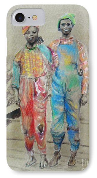 Kickin' It -- Black Children From 1930s IPhone Case