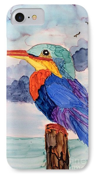 Kingfisher On Post IPhone Case