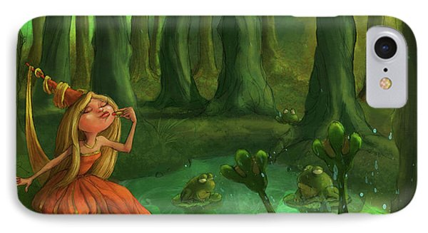 Castle iPhone 8 Case - Kissing Frogs by Andy Catling