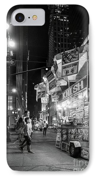 Knish, New York City  -17831-17832-bw IPhone Case