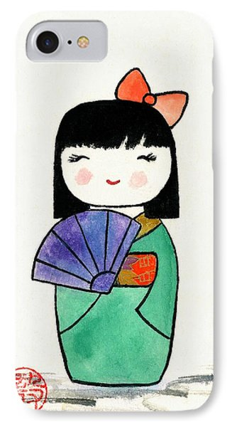 Kokeshi Doll IPhone Case