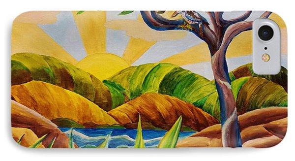 Kookaburra Landscape IPhone Case