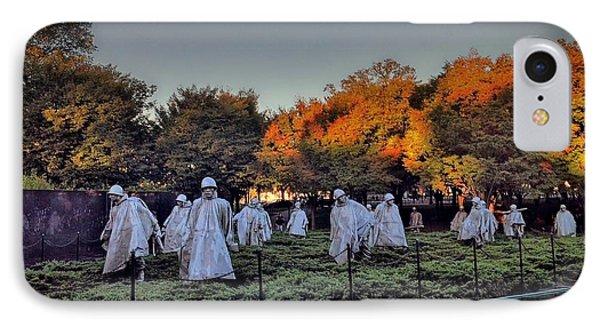 Korean War Memorial In Washington Dc IPhone Case