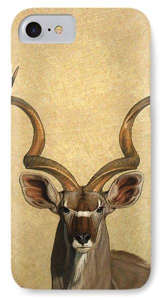 Animals iPhone 8 Case - Kudu by James W Johnson