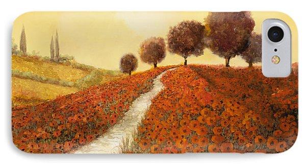 Landscape iPhone 8 Case - La Collina Dei Papaveri by Guido Borelli