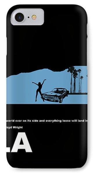 Car iPhone 8 Case - La Night Poster by Naxart Studio