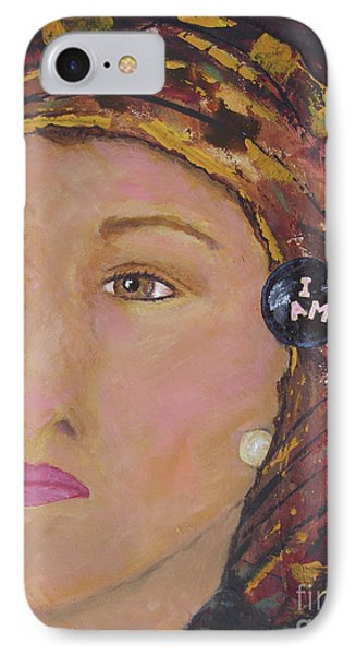 Lady In Head Scarf  IPhone Case