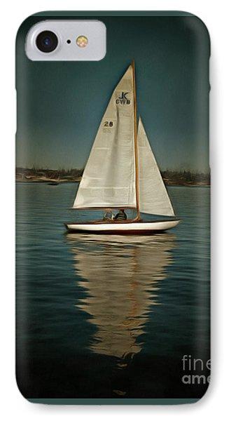 Lake Union Day Sailing IPhone Case