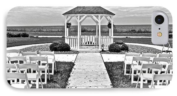 Lakefront Wedding IPhone Case