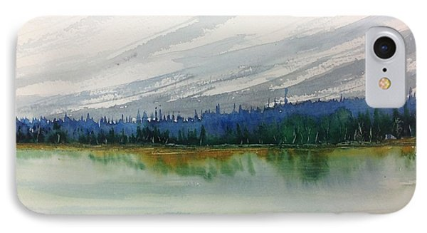 Lakeside - Mountain Foothill  - Banff IPhone Case